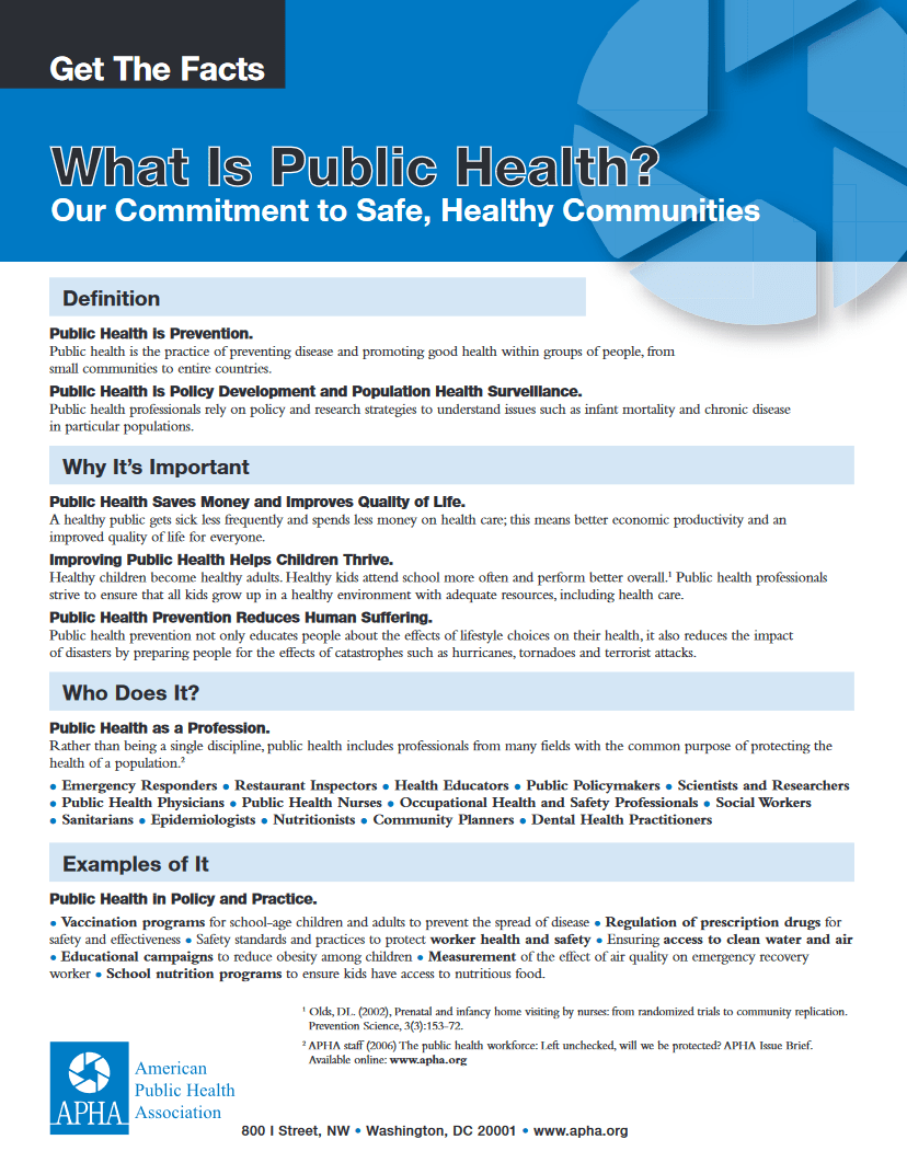 What is Public Health pdf thumbnail. Click for full text version