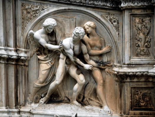 Cacciata da Paradiso Terrestre – Jacopo Della Quercia (Siena- Fonte Gaia)