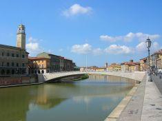 L'arco del ponte di Mezzo a Pisa,, opera dell'ing. Krall