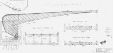 armatura del semiarco del ponte di Mezzo a Pisa