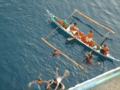 coin divers @ calapan city port, oriental mindoro