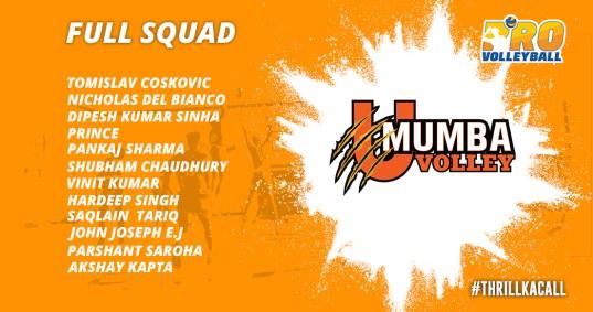 U Mumba Volley Team Squad Infographics