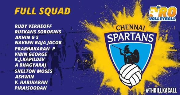 Chennai Spartans team Squad Infographics