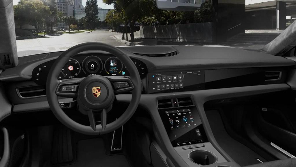 Porsche Taycan's Dashboard.