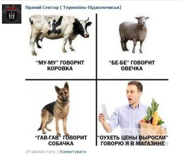 """""""Правий сектор"""" на Тернопільщині почав лаятись через ціни"""