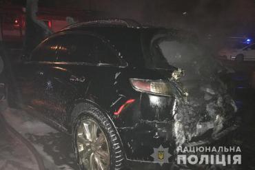 У Тернополі підпалили Infiniti FX35