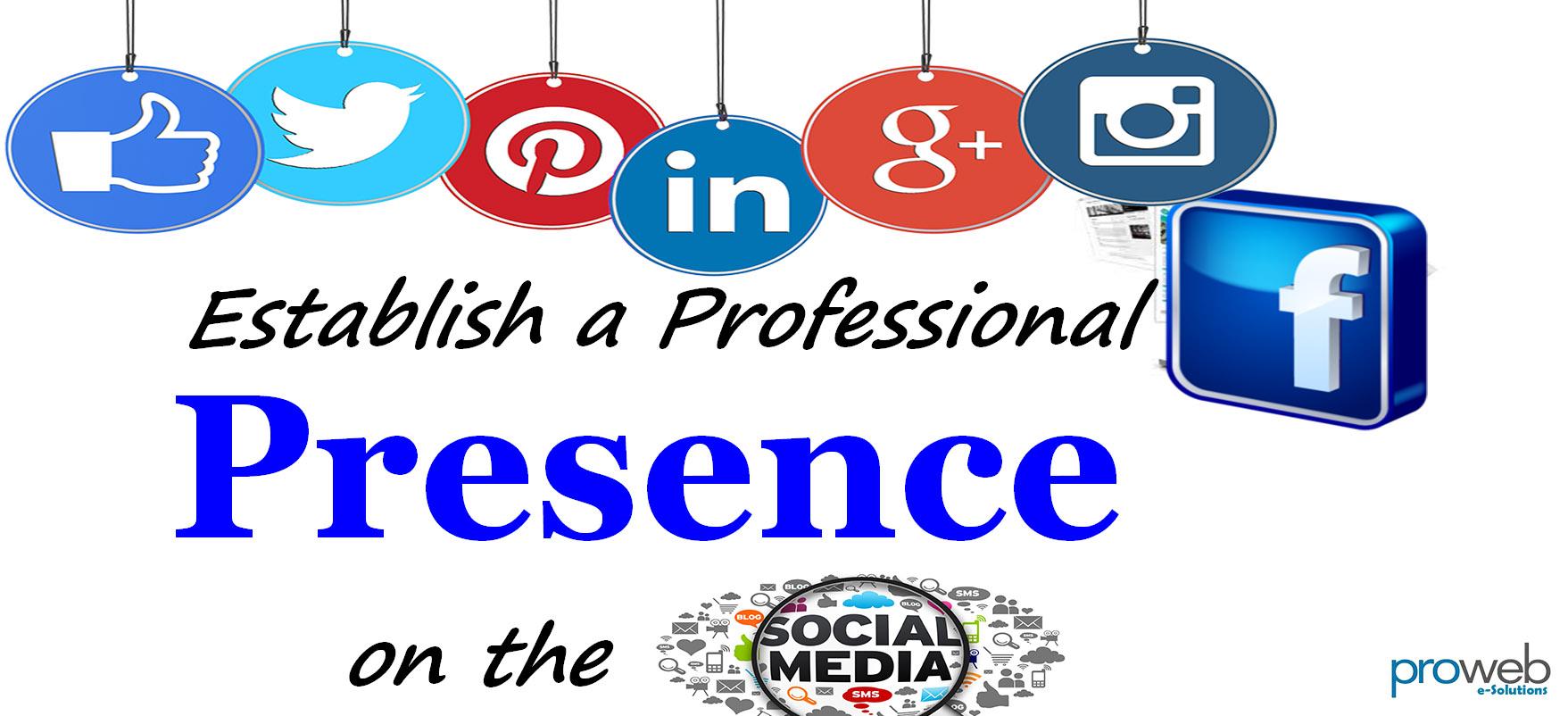 Establish a brand's presence on the social media