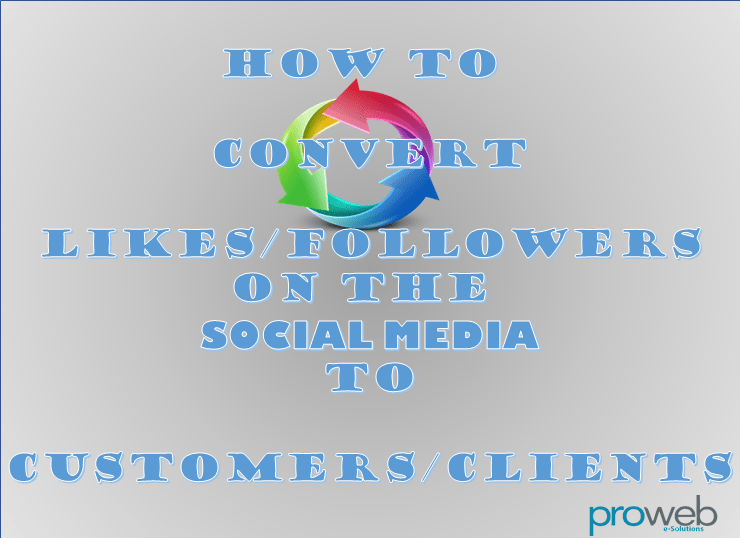 Convert likes/followers to customers/clients