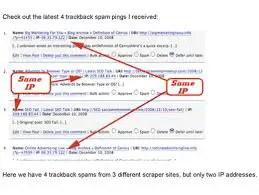trackback Spam