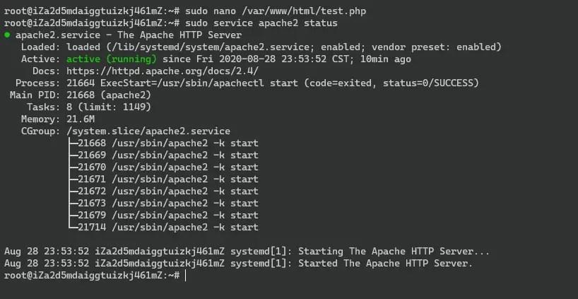 Apache Server Status checking on terminal