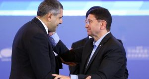 Zurab Pololikashvili, being greeted by the outgoing Secretary-General of the World Tourism Organisation Taleb Rifai (File Picture- September 2017)