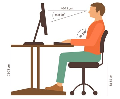 A good posture is a must in our digital lives, where one spends considerable time on computers and other light emitting devices. Illustration Courtesy: American optometric association