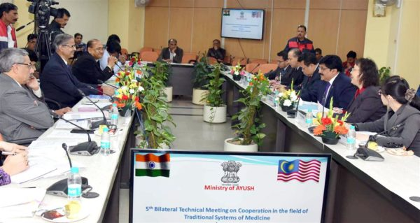 5th Bilateral Meeting on cooperation in the field of Traditional Systems of Medicine between India and Malaysia underway in New Delhi on 10 January 2018