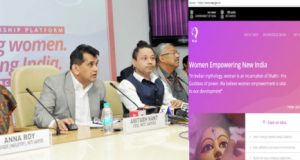 The CEO, NITI Aayog, Amitabh Kant launching the Women Entrepreneurship Platform (WEP) on the International Women's Day, in New Delhi on March 08, 2018.