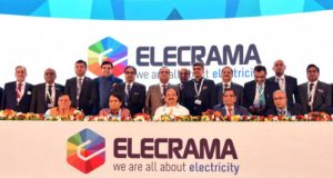 VP M. Venkaiah Naidu at an event to inaugurate the ELECRAMA 2018, organised by the Indian Electrical and Electronics Manufacturing Association, in Noida, Uttar Pradesh on March 10, 2018. Its estimated under National Electric Mobility Mission Plan-  6-7 million units of Electric Vehicles and hybrid electric vehicles will be on roads in India by 2020.
