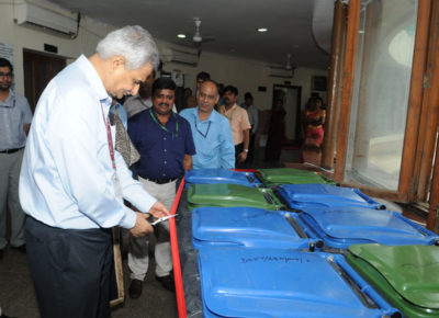 Its important to make judicious use of plastics for a green and sustainable planet. Seen in 2017 Picture is dedicated Blue and Green coloured dustbins being placed at various places in the premises of the Department of Personnel and Training (DoPT), on the concluding day of the Swachhta Pakhwada, in New Delhi on June 30, 2017.