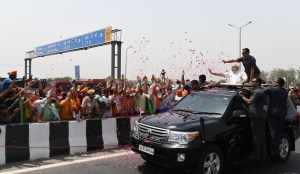 The Prime Minister, Narendra Modi during the inauguration of Delhi-Meerut Expressway in Delhi on May 27, 2018.