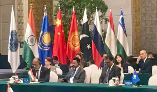 The Minister of State for Tourism (I/C) and Electronics & Information Technology, Alphons Kannanthanam at the SCO Tourism Ministers Meeting, in Wuhan, China on May 08, 2018.