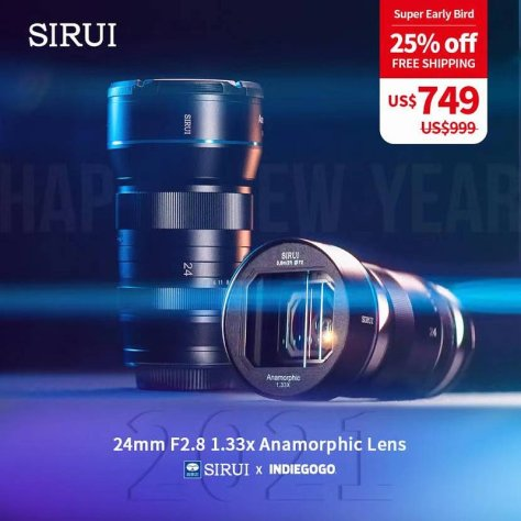 preview-eb0cf788bc1720d61f3bb2319c6421ab More Anamorphic Options for the FX9 - Sirui 24mm 1.33x Anamorphic.