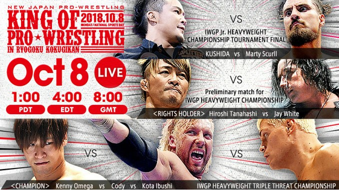 NJPW King Of Pro Wrestling 2018 Results