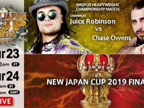 New Japan Cup Results (3/24/19)