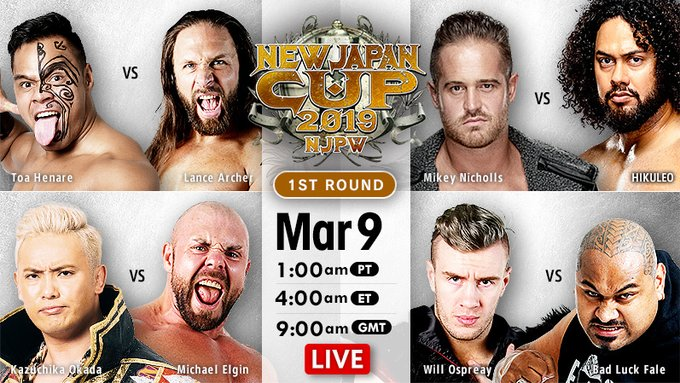New Japan Cup Results (3/9/19)