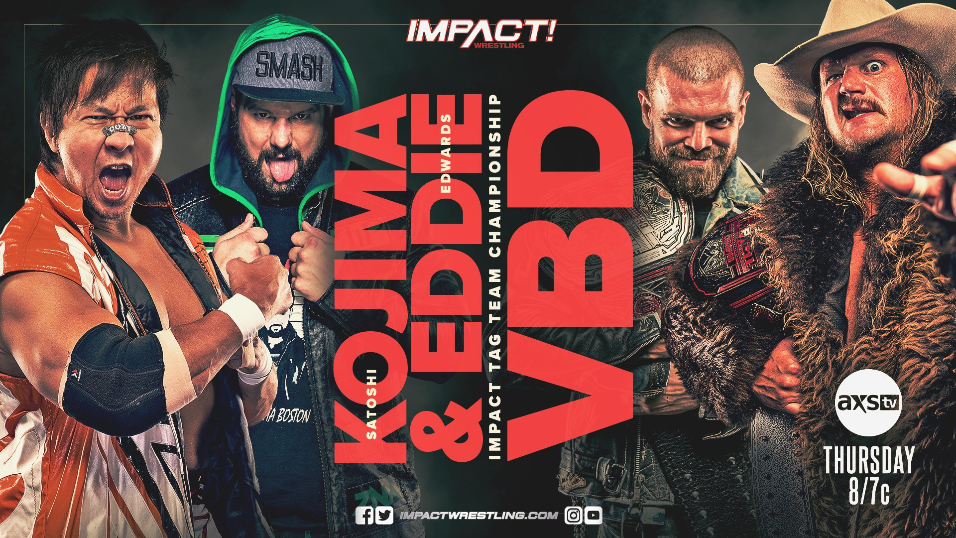 Eddie Edwards and Kojima vs Violent By Design For The Impact Wrestling Tag Team Championships