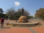 Monumento a Seretse Khama, el primer presidente tras la independencia