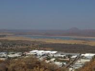 La represa cada vez más seca. El agua es el principal problema del país