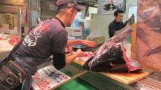 Subasta de atún en Osaka, Japón