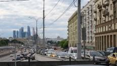 Atascamiento de autos en Moscú