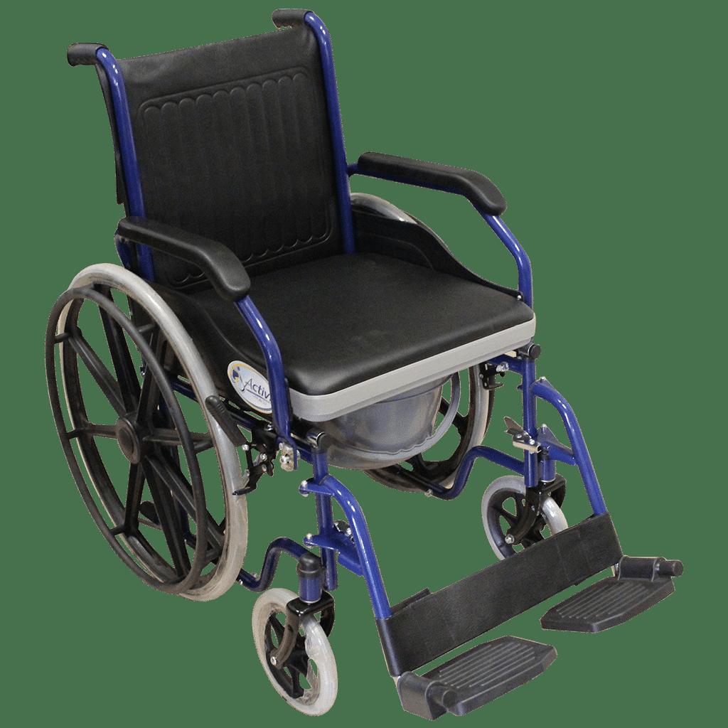 Silla de ruedas con cmodo integrado  PROXIMDICA