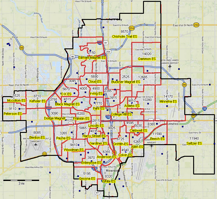 Areas Map And Surrounding Topeka