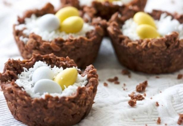 Пасхальные шоколадные гнезда | Десерты | Рецепты