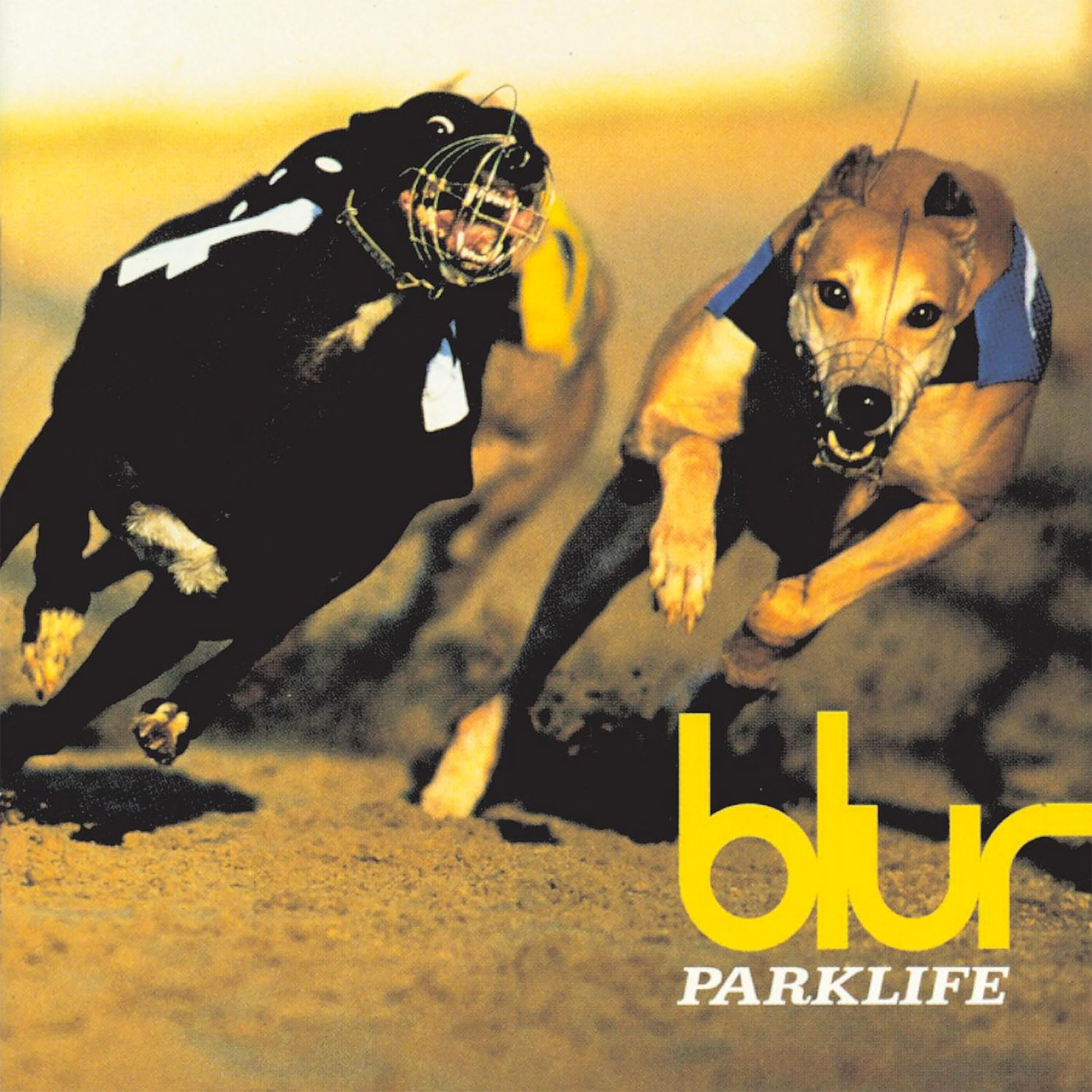 Parklife by Blur, 1994, photography by Bob Thomas, designed by Stylorouge.