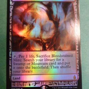 Bloodstained Mire  Zendikar Expeditions  Foil black core