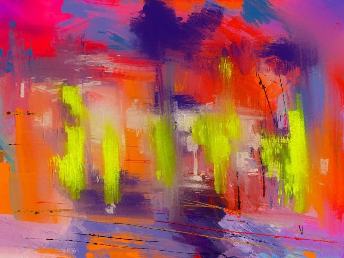 art graffiti brush abstract