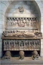 Tomba del Comte d'Urgell, primera meitat s. XIV, provinent del monestir de Santa Maria de Bellpuig de les Avellanes, New York, The Cloisters