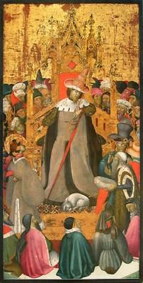 Bernat Martorell i taller, judici de sant Jordi, v.1434-1436, Musée du Louvre, París