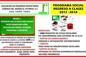CNPR de Central Potrero continúa su programa social Regreso a Clases