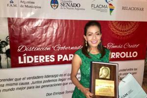 Senado de la Nación de Argentina reconoce a Mariana Benítez por su gestión a favor del desarrollo de Oaxaca