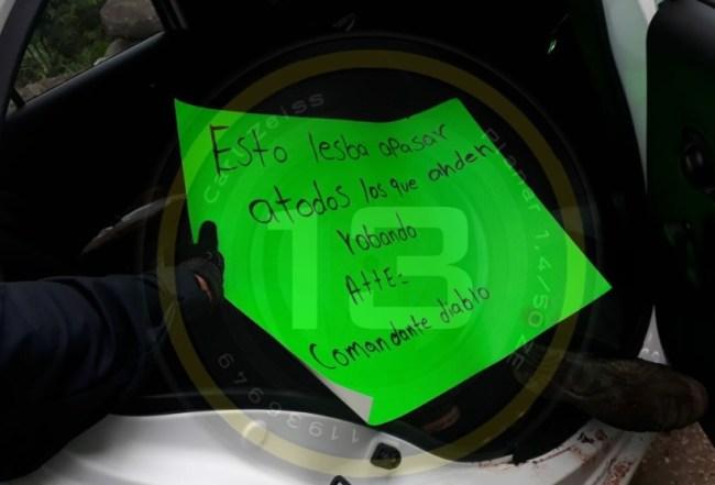 Hallan a tres ejecutados en taxi de Córdoba, en Tezonapa