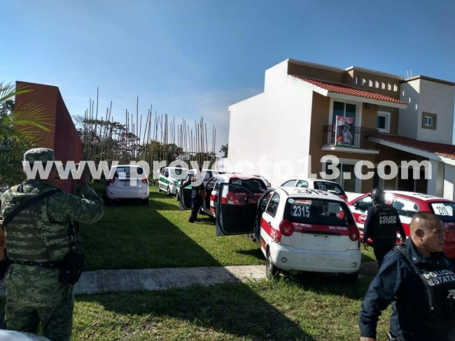 Aseguran taxis que eran del hermano de  exgobernador, Javier Duarte