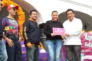 Recibe alcaldesa de Huatusco a la comitiva de Tempoal, Veracruz