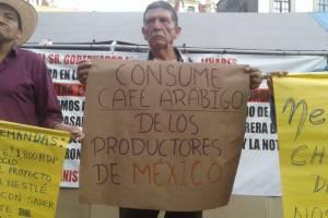 Protestan cafeticultores contra instalación de Nestlé en Veracruz