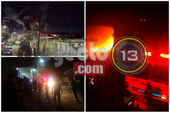 Fuego acabó casi con bodega de ferretera Construrama en Cosolapa