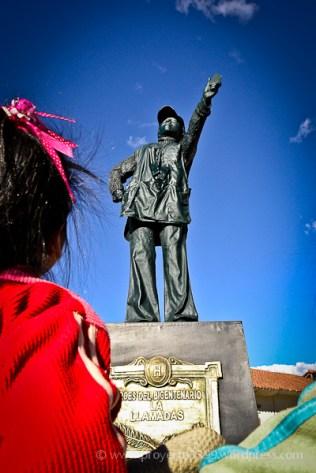 Héroes del Bicentenario, Instalación (avenida El Sol - Qorikancha, Cusco)