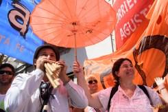 Manifestante toca el himno nacional con una quena. Primer paro nacional a Macri Se realizó el primer paro nacional de empleados estatales en la era Macri #Proyecto341 #ParoNacional #Macri #ATE #fotoperiodismo #Rosario PH: Sebastian Criado , reservados todos los derechos / all rights reserved