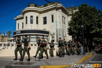 Una fuerte presencia de fuerzas federales se vio en las calles. © Sebastián Criado, proyecto341.com reservados todos los derechos / all rights reserved
