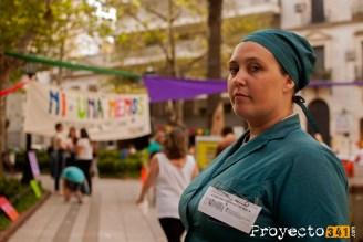 Lia Rosin, actriz rosarina, representando a la escritora feminista Virginia Woolf Fotografía: © Valeria Marani, proyecto341.com reservados todos los derechos / all rights